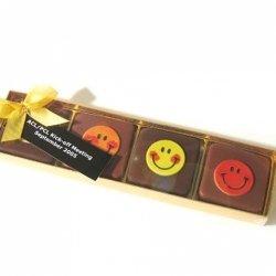 Packung mit Smiley-Schokolade