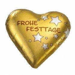 """Schokoladen-Herz """"Frohe Festtage"""""""