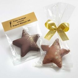 Schokoladen-Stern mit Gold