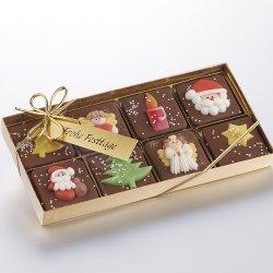 Weihnächtliche Schokoladen-Packung