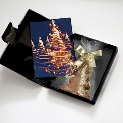 Weihnachtskarte mit Schokolade (NUR 1 Fr. PORTO)