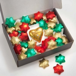 Geschenkpackung Sterne und Frohe Festtage